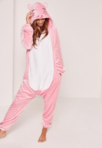 porco porquinho pijama macacão kigurumi - pronta entrega