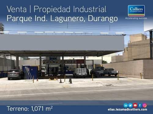 porpiedad industrial en venta, parque ind. lagunero, dur.