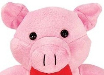 porquinho de pelúcia rosa sentado 21cm lavável anti alérgico
