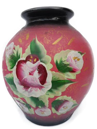 porrones matero maseta florero de arcilla pintado artesanía