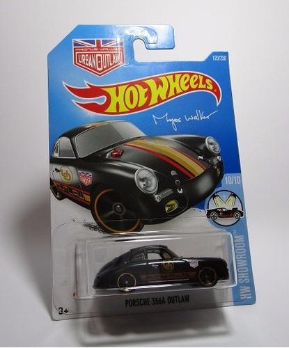 porsche 356a outlaw escala pequeña coleccion hot wheels