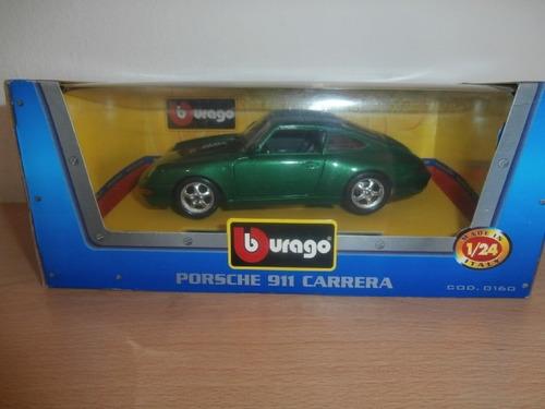 porsche 911 carrera 1993 burago escala: 1:24