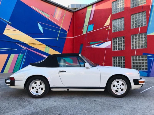 porsche 911 carrera cabrio white 1987 - macome classic.