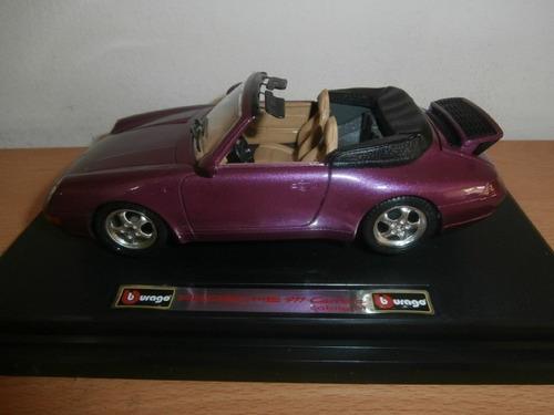 porsche 911 carrera cabriolet 1994 burago escala: 1:24