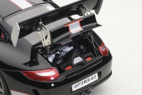 porsche 911 gt3 rs 4.0 black silver stripes
