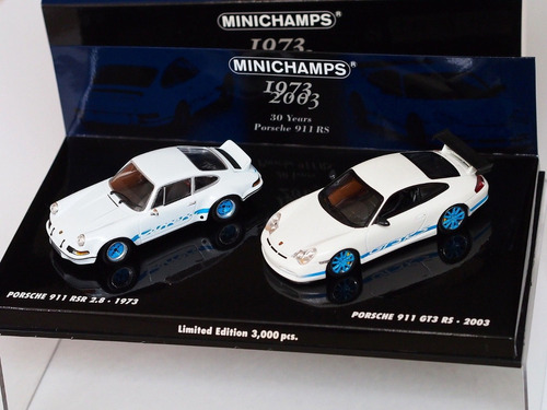 porsche 911 rs & rsr set 30 anos ed. ltd. 1:43 minichamps
