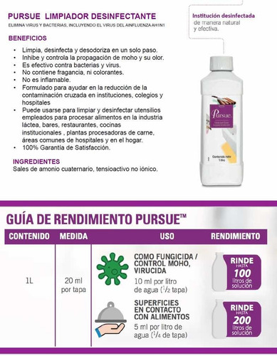 porsue desinfectante (envío gratis)