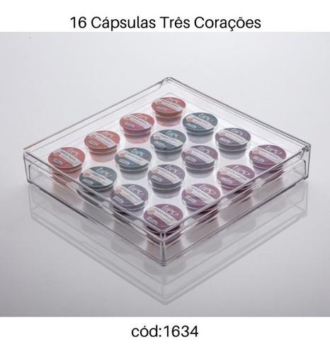 porta 16 cápsulas três corações elegance paramount 25x25x5cm