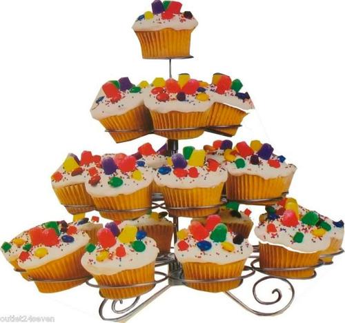 porta 23 cupcakes de 4 pisos