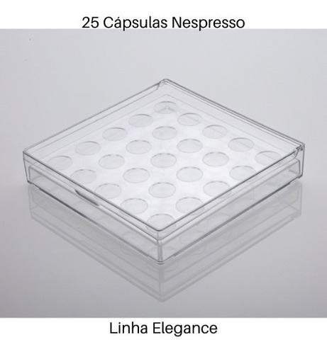 porta 25 cápsulas nespresso elegance paramount 25x25x5cm
