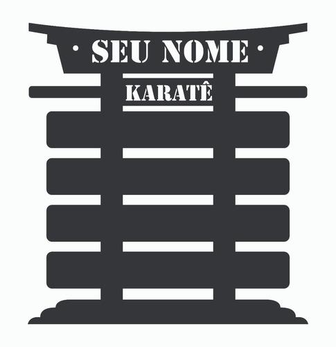 porta 5 faixas karate jiu-jitsu taekwondo com base