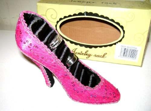 porta anillos, zapato de princesa