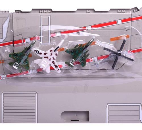 porta aviones ar-65 con luz y sonido heroes y leyendas 7130