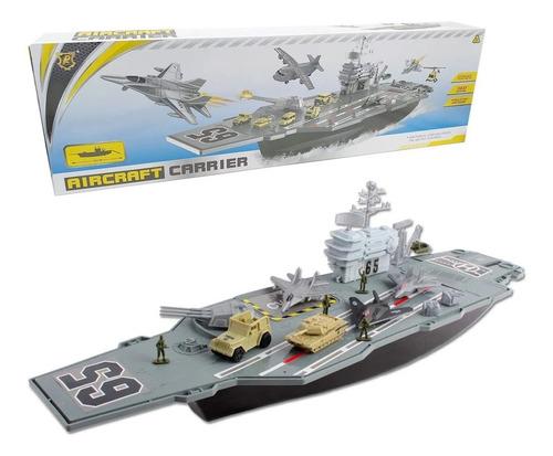 porta aviones militar 86 cms fuerzas navales con accesorios