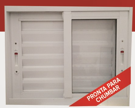 Porta balc o 3 folha aluminio veneziana branco - Piso porta 2000 ...