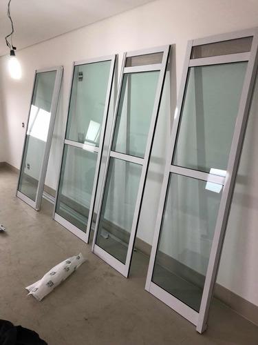 porta balcão de aluminio - vidros verdes- udinese 2,17x2,70