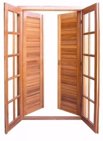Porta balc o madeira montada 214x100 varanda sacada quarto for Porta 1 20