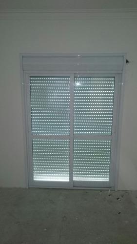 porta balcão persiana integrada 02 folhas linha suprema