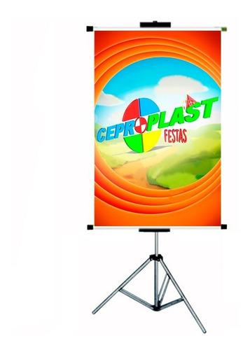 porta banner c/ garras 2,20m suporte pedestal tripé imediato