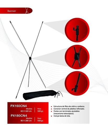 porta banner display araña portatil 60x1.60 economico c/bols