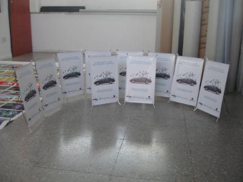 porta banner mini gigantografias de escritorio +banner 25x40