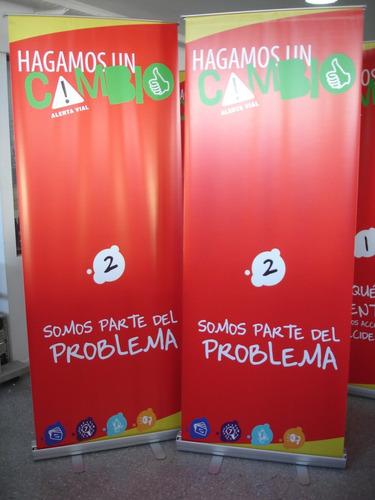 porta banner roll up roller con grafica + 2 minis de regalo
