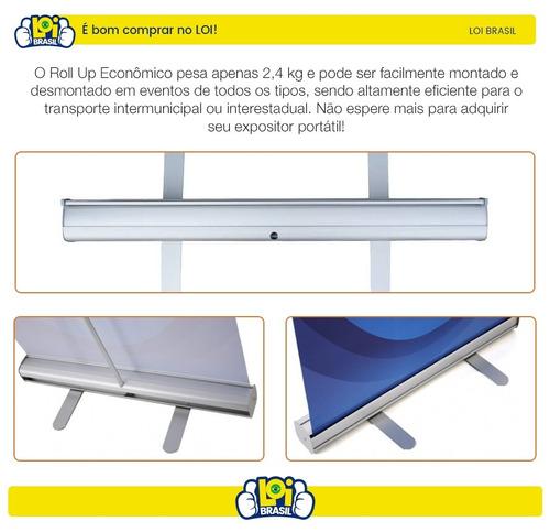 porta banner roll up rollup 80x200cm melhor preço loi brasil