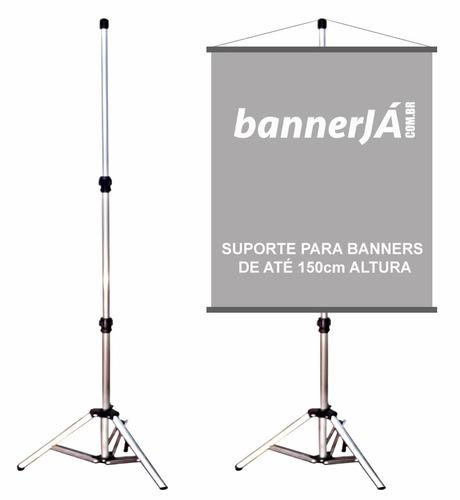 porta banner tripé em alumínio 2,25m