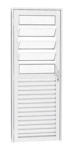 porta basculante 2,10 x 0,90 alumínio branco