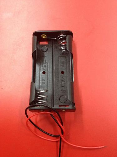 porta baterías aa 1.5v con cable