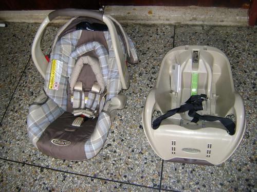 porta bebe y silla para carro graco