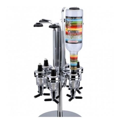 porta bebidas giratório dosador dispenser para 6 garrafas