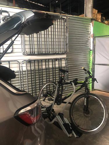 porta bicicleta enganche bocha remolque paragolpe faros iael