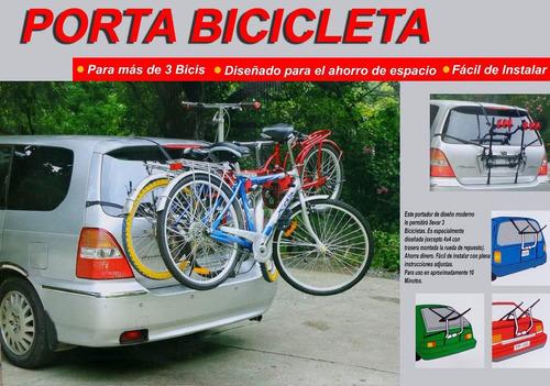 porta bicicletas 3 bicis universal/fácil instalacion  45kg