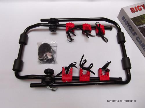 porta bicicletas universal para vehículo / 3 bicis / 45 kg