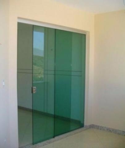 Porta Blindex Correr 210 X 100 Verde Instalada Cliente