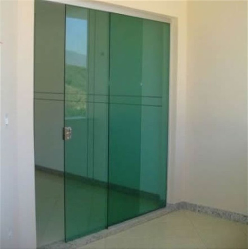 Porta blindex vidro temperado incolor 2 15 x 1 00 de for Porta 4 folhas de vidro temperado