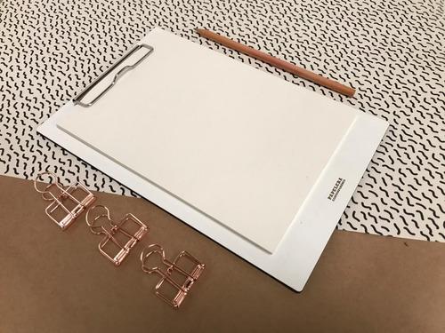 porta block a5 blanco 60h lisas bookcel + lápiz