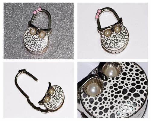 porta bolsa búho con lunares y perlitas pb189
