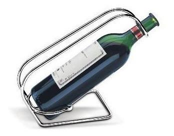 porta botella / soporte para botellas acero cromado