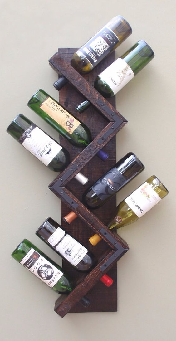 Porta botellas de vino de madera botellero repisa mod - Botellero de madera para vino ...