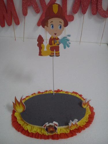 porta brocheta  de los bomberos