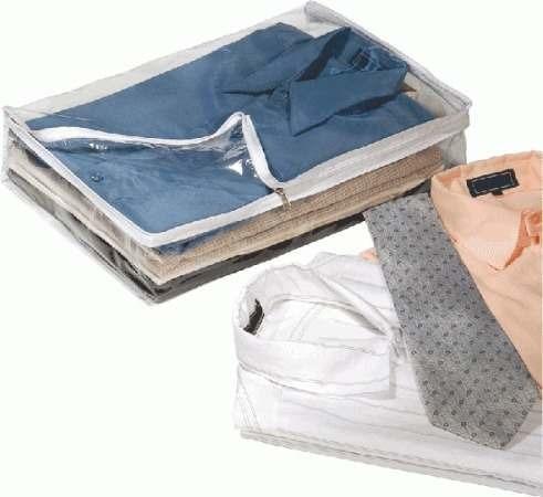 porta camisa para viagem kit com ziper com 3 unidades