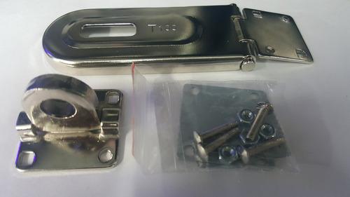 porta candado metalico 10cm x 4cm