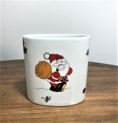 porta caneta organizador porcelana natal segunda linha
