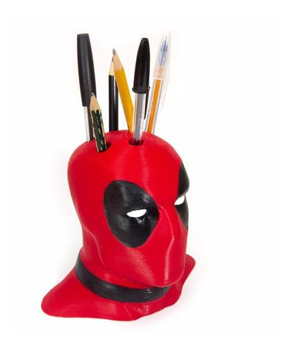 porta-canetas deadpool - com 6 furos - ótimo presente!