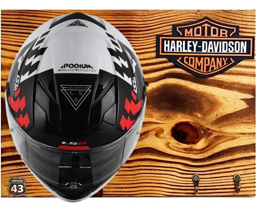 porta capacete harley davidson moto decoração porta chaves