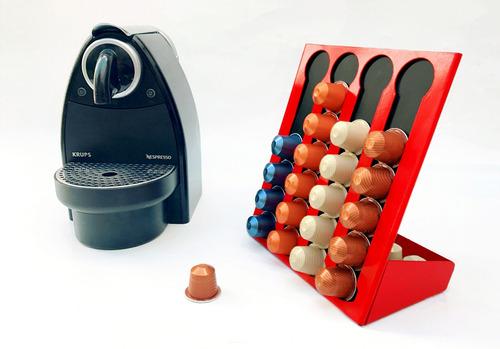 porta cápsulas café nespresso. diseño chapa objetos