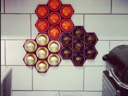 porta capsulas nespresso de pared tipo panal con adhesivo portacapsulas varios colores - excelente calidad 3d promo!!!