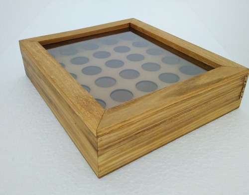 porta cápsulas nespresso rústico caixa com tampa de vidro